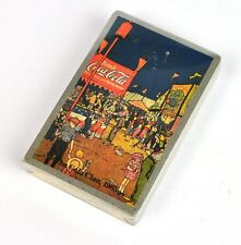 Coca Cola Spielkarten Bridge Karten USA Playing Cards 1985 Cola Clan Silberrand