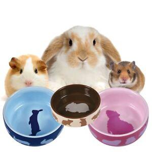Trixie Ceramic Feeding Bowl Motif Water/Food For Hamster, Guinea Pig, Rabbit