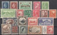 BJ6517/ NEW ZEALAND – 1921 / 1936 MINT SEMI MODERN LOT – CV 310 $
