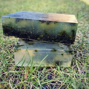 Scottish nettle soap, unscented. With dry nettle leaves and nettle oil.