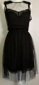 Rodarte for Target Black Women's Sleeveless Slip Mini Dress Size XS