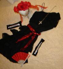Day of the Dead black lace dress sz 8 woman's costume Dia los Muertos Mardi Gras