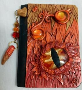"Mini Composition notebook Ooak Decorated Cover ""Sea Dragon"""