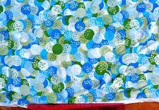 Liberty Vintage 100% silk crepe de chine 110 cm with blue/green/white 1m length