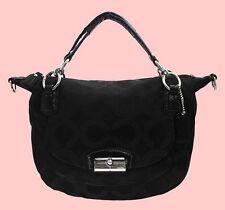 COACH 19328 KRISTIN OP ART Canvas & Leather Shoulder Handbag Msrp $298.00