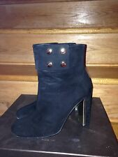 GUCCI Boots Black Suede Boots Booties Size 8