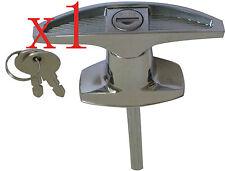 T Handle T Lock Rear Fixing Door Lock  Caravan Garage Shed Campervan
