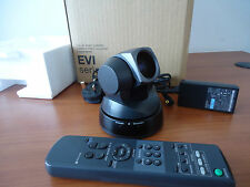 SONY EVI-D100P ROBOTIC COLOR CAMERA - PAL - WITH POWER SUPPLY AND REMOTE CONTROL