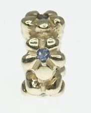 NEW 14K Yellow Gold ALE Pandora Charm Bracelet Bead Sapphire Daisy Spacer Flower