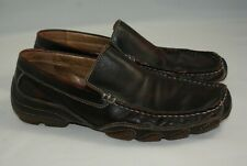 Aldo Men's US 8 EU 41 Brown Black Leather Loafers Driving Casual Moccasins Shoes