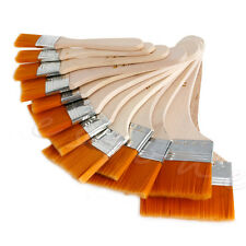 12Pcs Wooden Acrylic Oil Painting Brush Artist Panit Tool Kit Art Supply Set