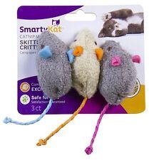 SmartyKat Skitter Critters 3-PACK Mice Catnip Cat Kitten Mouse Toys