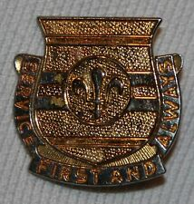 VINTAGE THEATER MADE DISTINCTIVE UNIT INSIGNIA PIN, SERVICE FIRST AND ALWAYS