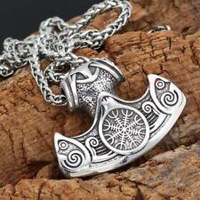 Anhänger Axt Wikinger Viking Valknut Aegishjalmur Ornamente Runen K24.17