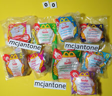 MIP SET 9 McDonald's 2000 HELLO KITTY Sanrio Cat SCRUNCHY Kimono DEAR DANIEL Toy