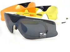 Sunwise AUSTIN Blanco CAMBIABLE 3 lentes + óptico Clip Tapa frontal Deslizable