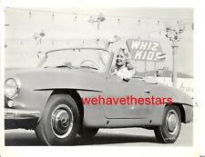 Vintage Joi Lansing MERCEDES 190SL CONVERTIBLE '55 HOT CARS Publicity Portrait