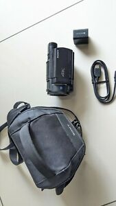 Sony Handycam FDR-AX33 Camcorder - Water Damaged /bad pins/flex - AS IS