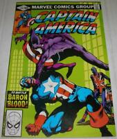 CAPTAIN AMERICA #254 (Marvel 1981) Death of BARON BLOOD (FN+) John Byrne art