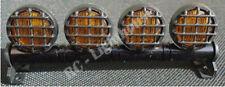 RC LED Light bar with Yellow Lenses - 5 flashing modes - Aluminum - FZ Yellow RD