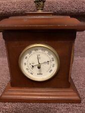 New listing Bombay Company Rotating Clock, Barometer, Hygrometer And Temperature (All Wood)