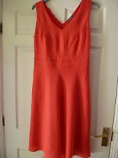 """Special Occasion Red Ladies Dress """"W"""" @ BHS Fitted bodice flare skirt S 14 BNWT"""