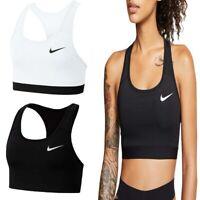Nike Sports Bra Womens Swoosh Bras Compression Dri Fit Support Gym