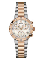 Bulova Women's Quartz Chronograph Diamond Accent Two-Tone 35mm Watch 98R210