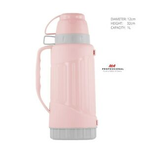 Cold and Hot Water Bottle Insulted, Thermos Flask 1 Litre with 2 Cups