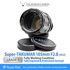⭐SERVICED⭐ Super-TAKUMAR 105mm F2.8 *Portrait Prime* M42 + Orig. Caps [GRADE A]