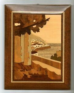 Marquetry Picture of Capri Italy Coastline