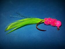 4 pack of hand tied 1/16 jigs - Crappie, Gills, Trout and Bass - #123-H