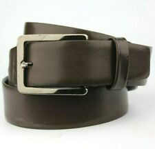 """Ibex England Brown Real Leather Belt Fits 34""""-36"""" Waist"""
