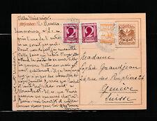entier postal   carte  Autriche 10 brun    voyagé  en 1927