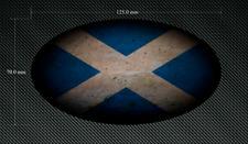 125 mm ovale con effetto invecchiato Scozia Bandiera Adesivo/Adesivo-Stampato & Laminati