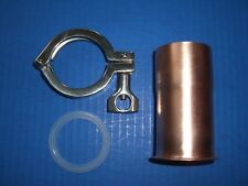 "2"" ADAPTER Moonshine Keg Copper Still Pipe Column Tri Clamp alcohol FERRULE"