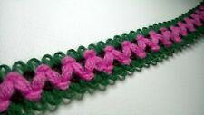 green and pink upholstery trim fabric trimming edge per meter 20mm T051