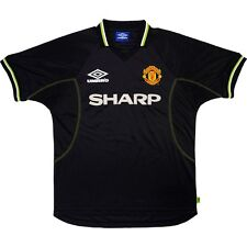 "vintage Manchester United 1998-99 black third shirt Umbro Sharp XL 46-48"" jersey"