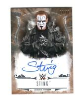 WWE Sting 2016 Topps Undisputed Bronze On Card Authentic Autograph SN 70 of 99