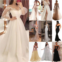 Women Bridesmaid Maxi Formal Dress Evening Party Prom Cocktail Wedding Ball Gown