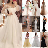 Women's Long Maxi Formal Dress Evening Party Prom Cocktail Wedding Ball Gown US