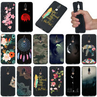 For Huawei Mate 10 Lite/Y9 2018 Shockproof Soft Silicone Black Painted TPU Case