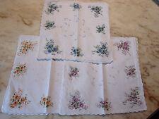 12 mouchoirs femme 100% coton tissées festonnés n°238