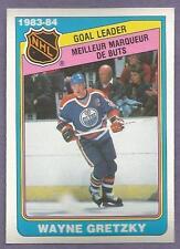 1984-85 OPC O-PEE-CHEE 1983-84 NHL Leader Set Gretzky Goulet Yzerman Riggin