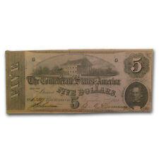 1862 CSA $5.00 (T-53) State Capitol @ Richmond, VA XF