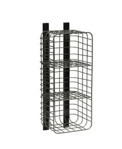 Entryway Vertical 3 Cube Wire Shelf Pewter - Threshold