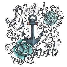 Hold Fast Temporary Tattoo Rockabilly Retro Vintage Kustom Nautical
