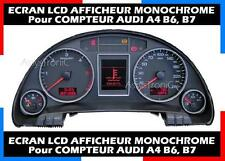 ECRAN LCD AFFICHEUR MONOCHROME OBD COMPTEUR AUDI A4 B6, B7 de 2002//