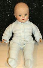"Rare Antique 1930s Baby doll Composition Head/Vinyl Limbs/cloth body TEETH 20"""