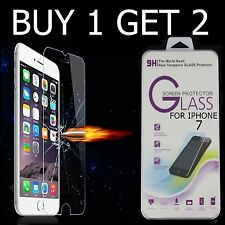 2 x  100% Genuine Tempered Glass Screen Protector Film For APPLE iPhone 7 - New